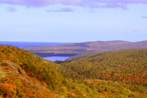An autumn view from Brockway Mountain. Photo by J. Haara.